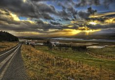 The Farm on the Fjord at Sunset, Iceland