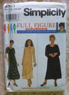 Plus Size Dress Sewing Pattern UNCUT Simplicity by latenightcoffee