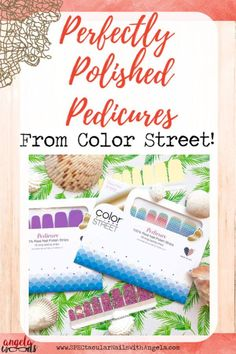 Introducing Color Street Pedicures How to do a Color Street pedicure has been a popular search, but Color Street has never featured it. Fall Pedicure, French Pedicure, Pedicure Colors, Pedicure At Home, Diy Nails At Home, Pedicure Designs, Manicure And Pedicure, Diy Beauty, Beauty Tips