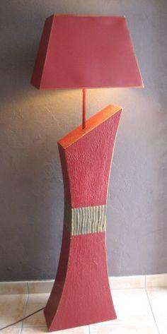 lampe en carton terminée