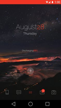 Orange Night for Themer Android Homescreen by Themer - MyColorscreen