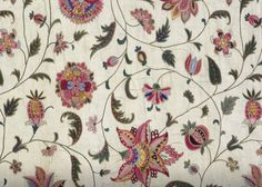 Fragment of an Embroidered Coverlet in Asian Fabric, Anonymous, c. 1720 - c. 1740_ https://www.rijksmuseum.nl/en/collection/BK-1980-773-B