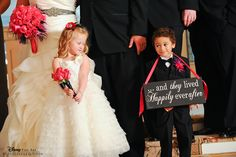 "Adorable ""... and they lived happily ever after"" sign for the ring bearer"