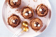 Chocolate Mousse Nests