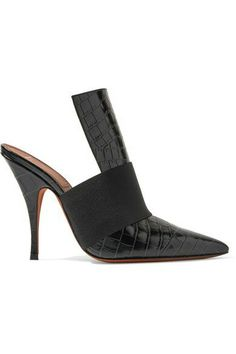 €710 GIVENCHY Elastic-trimmed croc-effect leather mules €710 Pumps, Pumps 7541e57a99e4