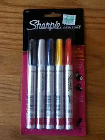 Dishwasher-Safe Sharpie Mugs: plain sharpies do not work… have to have oil-based sharpies! Good to know. (Maybe this is why that other pinterest idea didn't work - a baked-in-oven after drawing on mug, but it washed off!)
