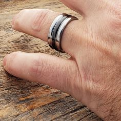 Ceramic rings are durable and light weight. Choose from a large collection of ceramic wedding bands with a Lifetime Guarantee. Black Tungsten Rings, Stackable Rings, Black Rings, Mind Blown, Wedding Bands, Rings For Men, Ceramics, Metals, Ceramica