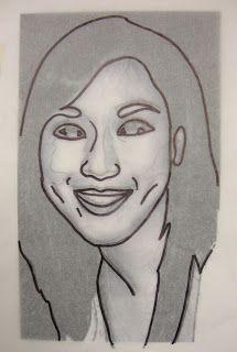 Materials:  - Student Photographs  - Pencil  - Eraser  - Fine Point Sharpie  - Extra Fine Point Sharpie  - White Drawing Paper