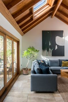 Open House | John And Gillian Hewitt's Timber-Framed Sustainable Home Sustainable Architecture, Sustainable Design, Living Area, Living Spaces, Living Room, Log Burning Stoves, Beautiful Modern Homes, Cedar Walls, Timber Structure
