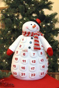 80553 - Snowman Advent Calendar #snowman #christmas #advent #calendar #gift #wholesale #bestseller