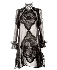 Givenchy Sheer Silk And Lace Dress