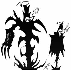 Lord Death, menacing, approachable, cool; Soul Eater
