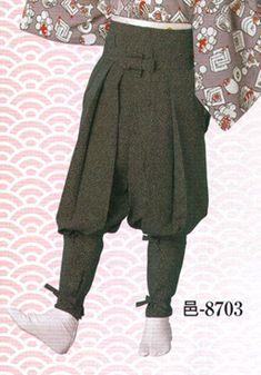 Esbossos del Japó, faldilla ballant noia, faldilla, Tattsuke hakama-8703-Tattsuke hakama 邑 印