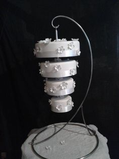 Upside down wedding cake