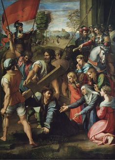 size: Giclee Print: Christ Carrying the Cross by Raphael : Panoramic Photography, Ways Of Seeing, Large Painting, Sacred Art, Beautiful Paintings, House Painting, Great Artists, Find Art, Framed Artwork