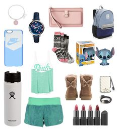 """Christmas list"" by hgaul ❤ liked on Polyvore featuring Title Nine, Kate Spade, FOSSIL, NIKE, UGG, Bite, Alex and Ani, Victoria's Secret and Gap"