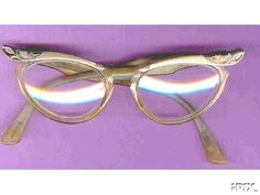 Cat's Eye glasses (some of my teachers wore them)
