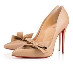 Madame Menodo 100 Nude 1 Leather - Women Shoes - Christian Louboutin