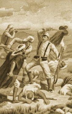 a campaña de África, enfrentamiento de españoles con las tropas de Marruecos, (Melilla), año 1909 -4