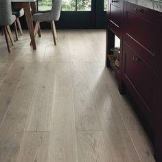 Fast Fit Light Grey Oak single plank wide flooring