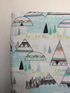 Crib SheetIndian SummerWoodland Pine by cloverelli on Etsy