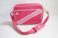 2ab3b11fb84 90 s ADIDAS Airlane Bag Sporty Cross Body Bag Vintage Retro Gym Bag Bright  Pink Sport Bag Fun Pink Adidas Three Stripes Square Shoulder Bag