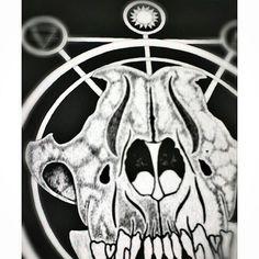 Wolf skull artwork
