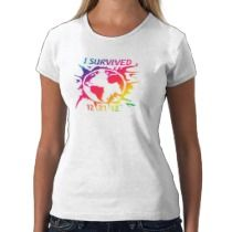 """I Survived 12-21-12"" End of the World Shirt t-shirts by trenderz"