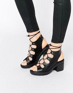 Sandalias de tacón con cordones TEMPT de ASOS