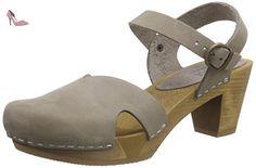 Sanita Damen Oline Sandal Pantoletten, Grau (Grey), 40 EU
