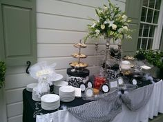 Wouldn't it be Loverly?!  Exclamations Catering shortbread and shortcake station for My Fair Lady party for Triad Stage!