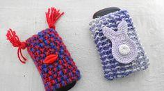 Como fazer uma capa para seu celular em tricô.  #craft #DIY #Knitting #trico