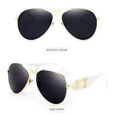 Zhhlinyuan Grand Mens Womens Sunglasses Unisexe Armature en Métal Charnière  de Qualité À l extérieur 1e94e8769cc7