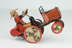 Vintage Marx Tin Windup Whoopee Car Litho Graphics | eBay