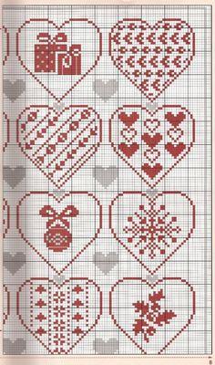 Points de croix *<3* Cross stitch Christmas is Love chart2