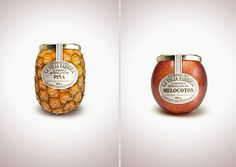 Marmelade - Over 45 Cool Packaging Examples. #jam #apple #ananas #pineapple #packaging #fruit