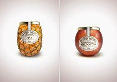 Marmelade - Over 45 Cool Packaging Examples. #jam #apple #ananas #pineapple #packaging #fruit