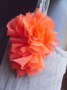 Ruffle Flower Pin Brooch