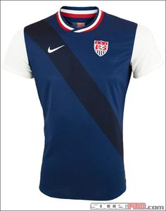 USA Soccer Men's Nat'l Team away jersey. White sleeves reminiscent of Arsenal's jersey while keeping the USA sash. I need this!
