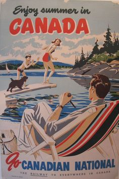 New Training Poster Design Vintage Travel 51 Ideas Canadian National Railway, Canadian Travel, Canadian Culture, Canadian History, Canada Day Crafts, Train Art, Railway Posters, Art Deco Posters, Vintage Travel Posters