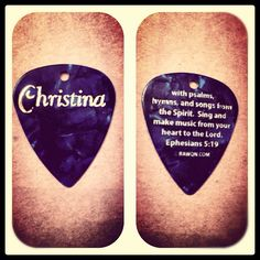 My new  #guitar #pick  bibleversememes.com Ephesians 5 19, Psalms, Bible Verses About Friendship, Psalm 119 105, Lord And Savior, Singing, Encouragement, Guitar, Songs