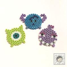 Monsters, Inc Tsum Tsum perler beads by senapapa beads