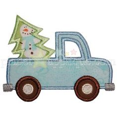Christmas Tree and Truck Applique