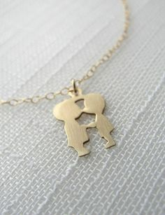 Kissing Couple Necklace, any type you want!