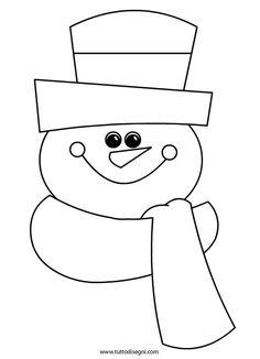 Disegni Inverno - Pupazzo di neve - TuttoDisegni.com