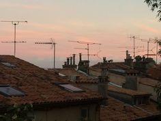 Antenas al atardecer (Cannes, Francia)