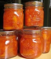 Homemade peach jam.