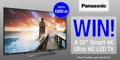"#Panasonic 50"" Smart 4K UHD LED TV competition - Winner: IanJohnShaw"