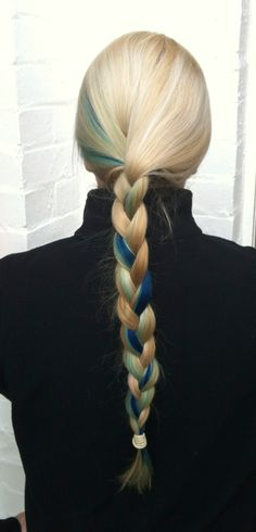 How to put a blue streak in your hair - Amy In Devon