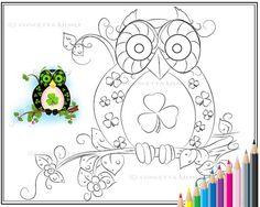 Fantasy Owls Set of Three Owl/ Bird Art door enchantedezignstudio